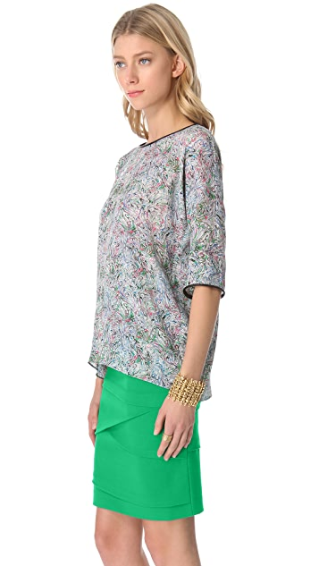 Yigal Azrouel Swirl Georgette Top