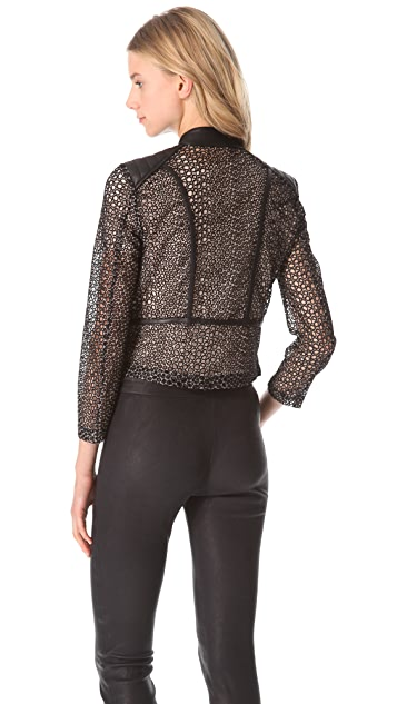 Yigal Azrouel Embroidered Organza Jacket