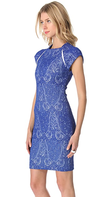 Yigal Azrouel Paisley Jacquard Dress