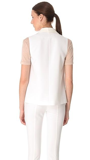 Yigal Azrouel Double Crepe Georgette Vest