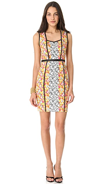 Yigal Azrouel Floral Ikat Dress