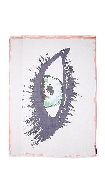 Yigal Azrouel Eye Print Scarf