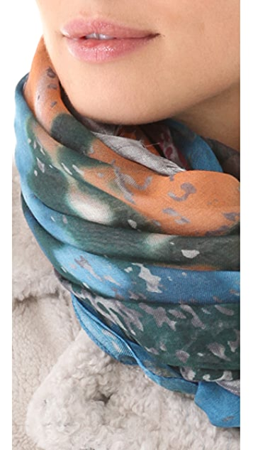 Yigal Azrouel Blurred Roses Scarf