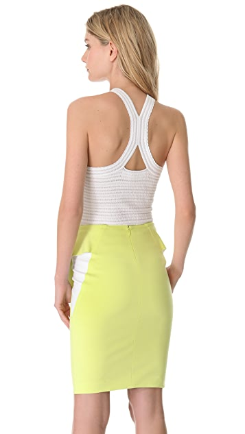 Yigal Azrouel Stripe Tech Knit Tank Top
