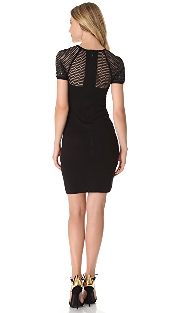 Yigal Azrouel Diamond Colorblock Knit Dress