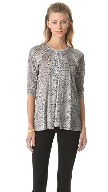 Yigal Azrouel Foiled Cobra Knit Top