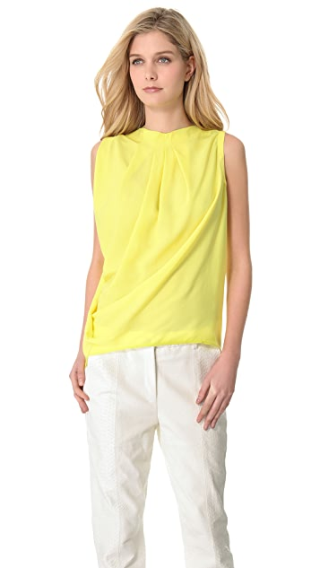 Yigal Azrouel Crepe Georgette Top