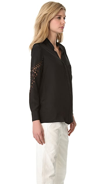 Yigal Azrouel Laser Cut Blouse