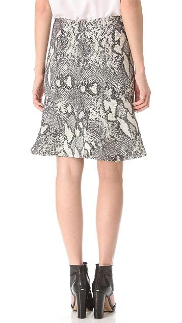 Yigal Azrouel Reptile Jacquard Skirt