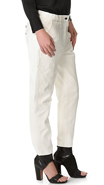 Yigal Azrouel Textured Leather Pants