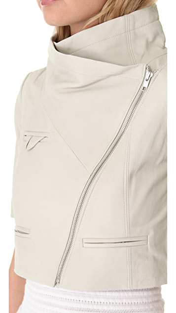 Yigal Azrouel Textured Leather Jacket