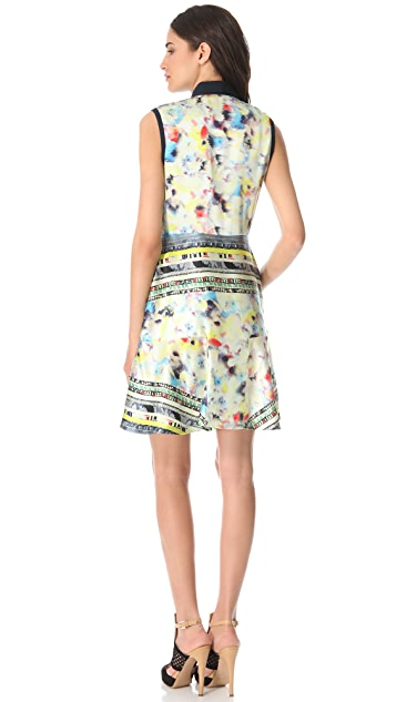 Yigal Azrouel Aquamarine Ikat Dress