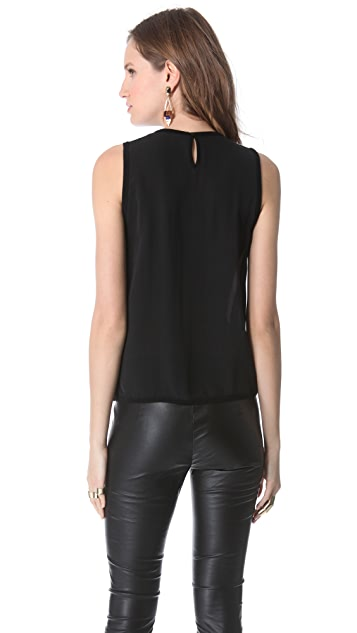Yigal Azrouel Silk Tank Top