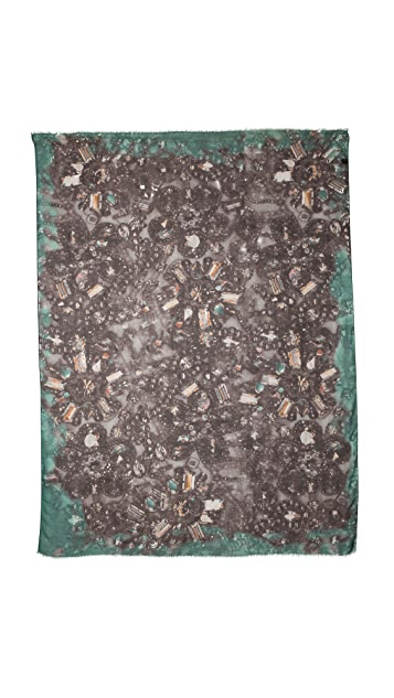 Yigal Azrouel Embroidery Print Scarf