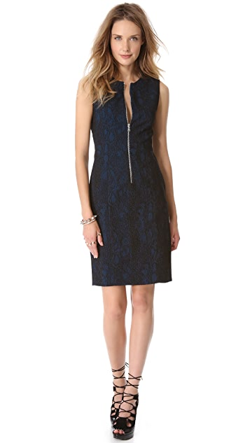 Yigal Azrouel Snake Jacquard Dress