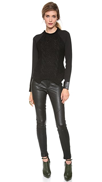 Yigal Azrouel Cable Knit Sweater