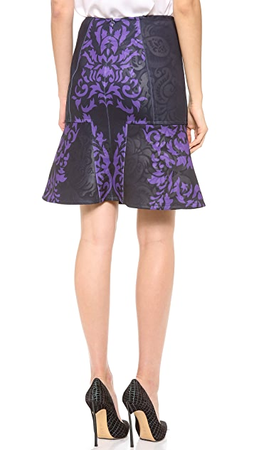 Yigal Azrouel Brocade Scuba Skirt