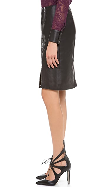 Yigal Azrouel Leather Skirt