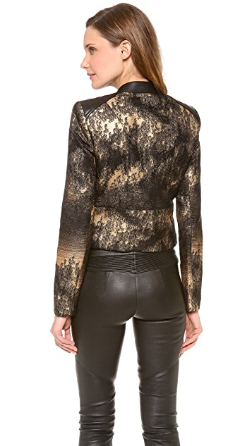 Yigal Azrouel Metallic Motorcycle Jacket
