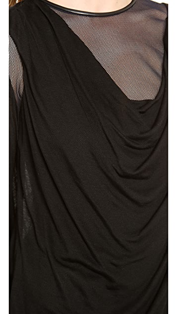 Yigal Azrouel Jersey Top with Mesh