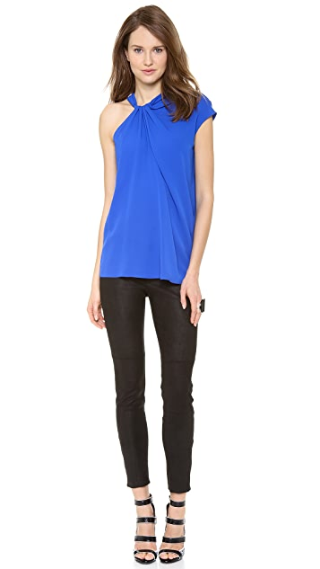 Yigal Azrouel Crepe Georgette Ruffled Top