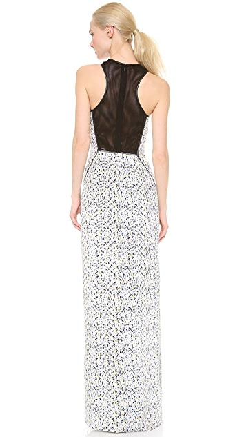 Yigal Azrouel Small Feather Silk Gown