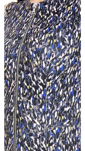 Yigal Azrouel Small Feather Scuba Dress