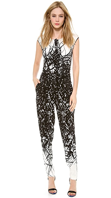 Yigal Azrouel Printed Jumpsuit