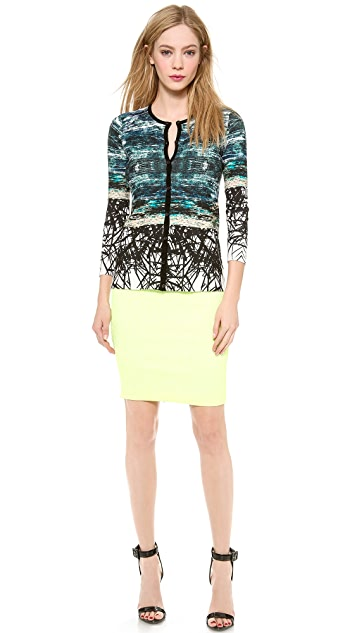 Yigal Azrouel Placement Print Cardigan