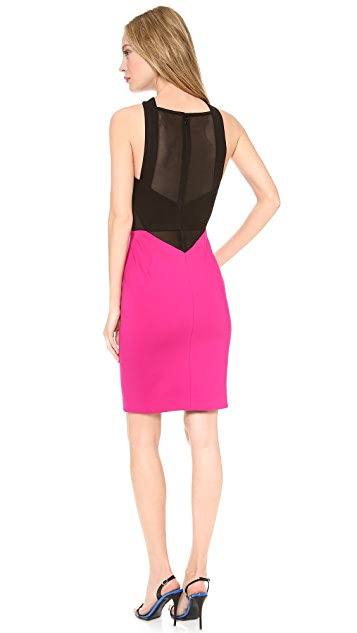 Yigal Azrouel Cross Front Pieced Dress