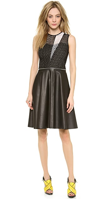 Yigal Azrouel Convertible Patchwork Dress