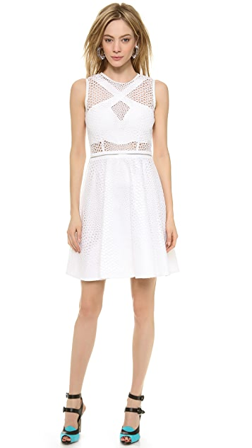 Yigal Azrouel Convertible Eyelet Dress