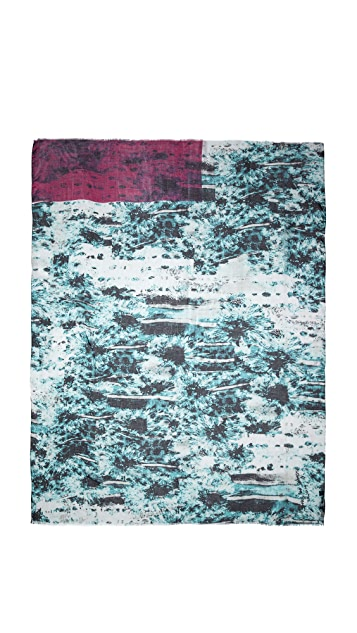 Yigal Azrouel Flower Print Scarf