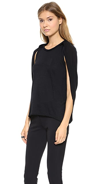Yigal Azrouel Jersey Cape Top