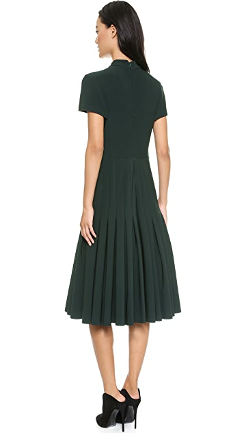 Yigal Azrouel Mechanical Stretch Dress with Pleats