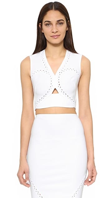 Yigal Azrouel Rickrack Crop Top