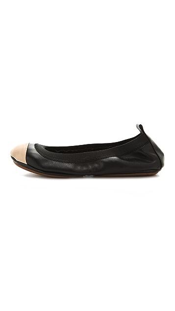 Yosi Samra Two Tone Cap Toe Ballet Flats