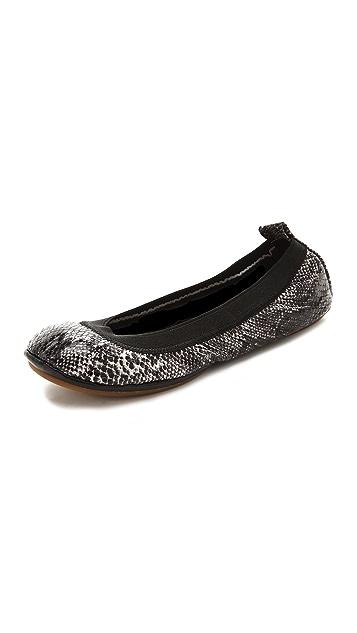 Yosi Samra Snake Print Ballet Flats