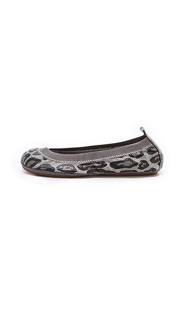 Yosi Samra Snow Leopard Ballet Flats