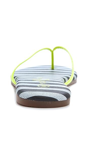 Yosi Samra Neon Flip Flops