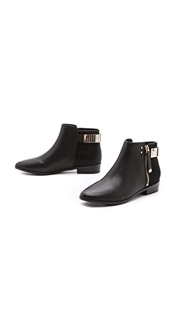 Yosi Samra Two Tone Zip Booties