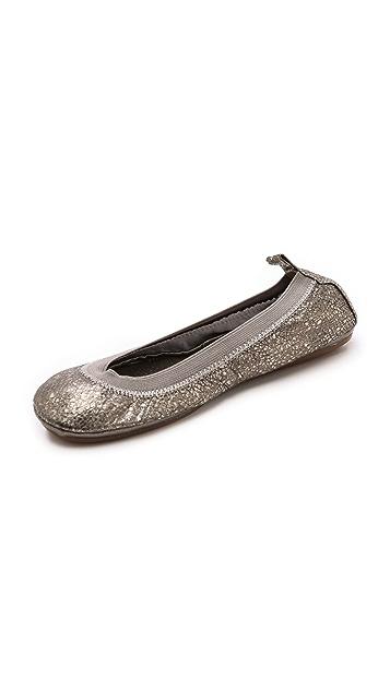 Yosi Samra Metallic Ballet Flats
