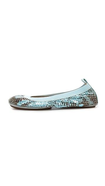 Yosi Samra Samara Metallic Ballet Flats