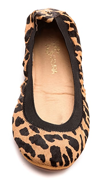 Yosi Samra Samara Leopard Haircalf Flats