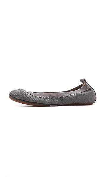 Yosi Samra Samara Embossed Croc Flats