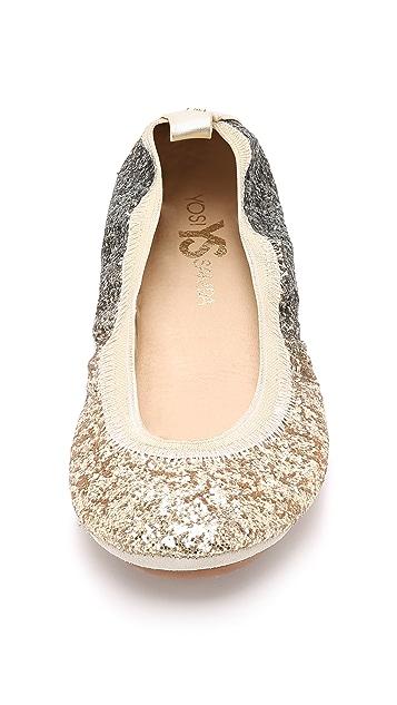 Yosi Samra Serena Glitter Ballet Flats