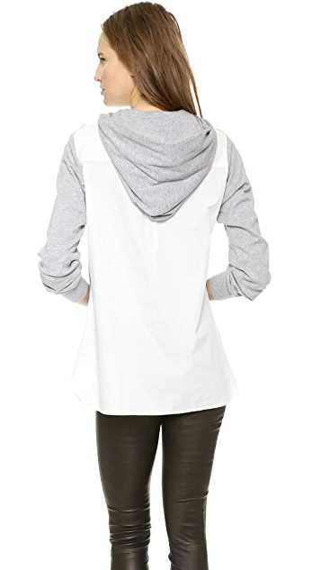 Y-3 Hybrid Hooded Sweatshirt