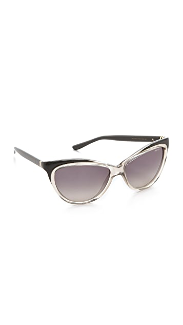 Saint Laurent Exaggerated Cat Eye Sunglasses