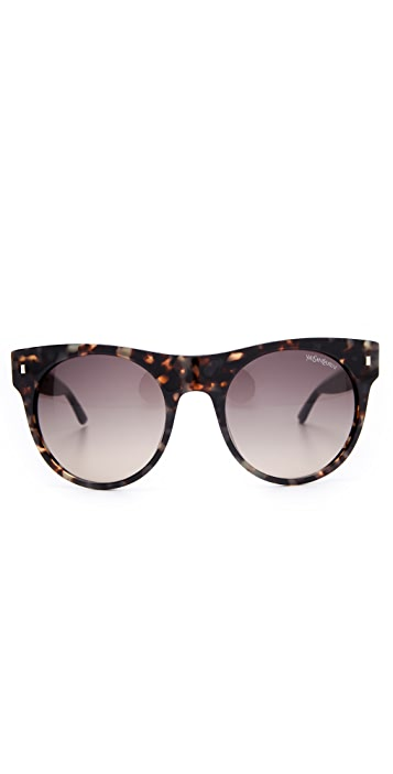 Saint Laurent Oversized Preppy Round Sunglasses