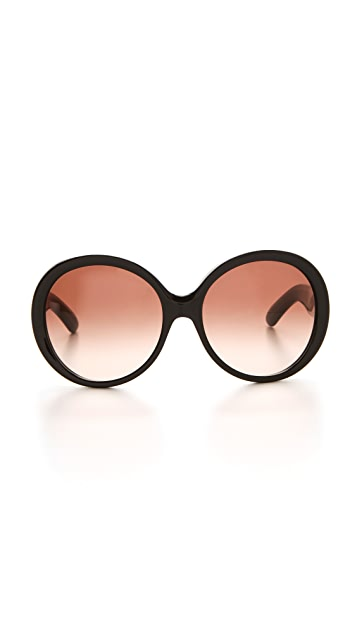 Saint Laurent Oversized Round Sunglasses